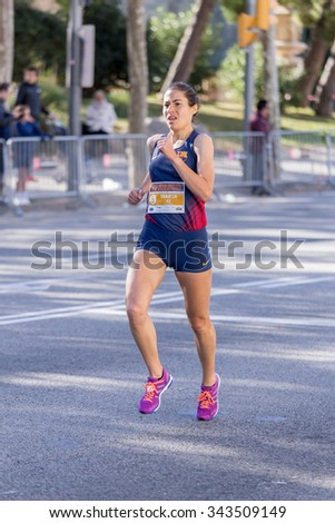 Marta Galimany of Spain,92nd Jean Bouin Running events , 23.nov. 2015 in Barcelona, Spain - stock photo