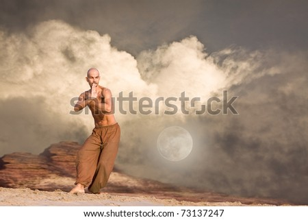Martial Arts Background - stock photo