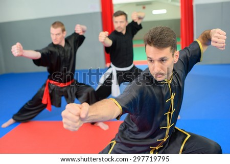 Martial arts class - stock photo