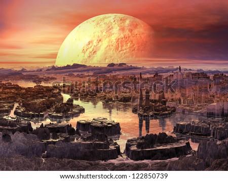 Martian Morning - stock photo