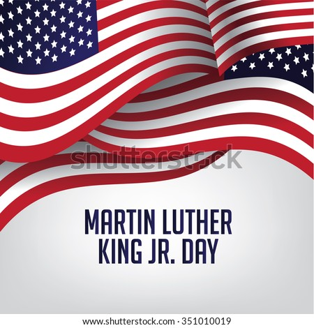 Martin Luther King Day American flag illustration - stock photo