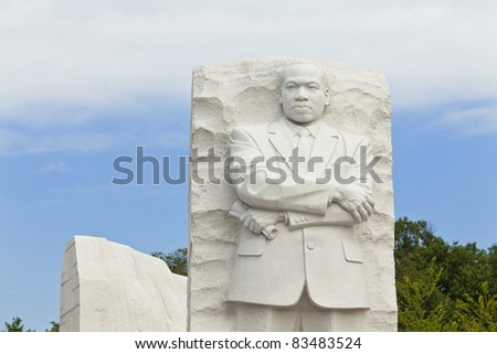 Martin Luther King, Jr Monument in Washington, DC - stock photo
