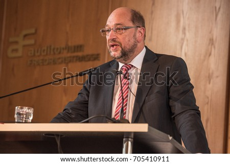 Martin Schulz speaking at the DIW in Berlin in August 2017