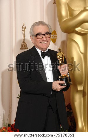 "Martin Scorsese - director of ""The Departed"" - at the 79th Annual Academy Awards at the Kodak Theatre, Hollywood. February 26, 2007  Los Angeles, CA Picture: Paul Smith / Featureflash"