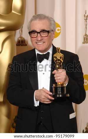 """Martin Scorsese - director of """"The Departed"""" - at the 79th Annual Academy Awards at the Kodak Theatre, Hollywood. February 26, 2007  Los Angeles, CA Picture: Paul Smith / Featureflash - stock photo"""