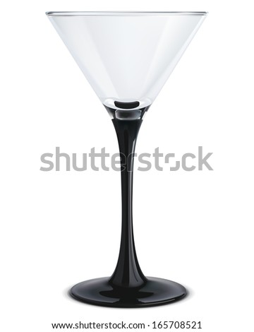 Martini glass. Illustration