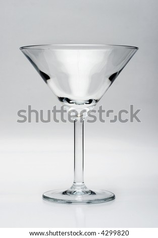 Martini glass isolated