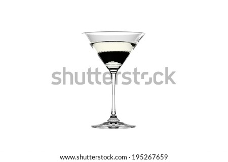 Martini glass isolated on the white background - stock photo