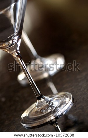 Martini Glasses - stock photo