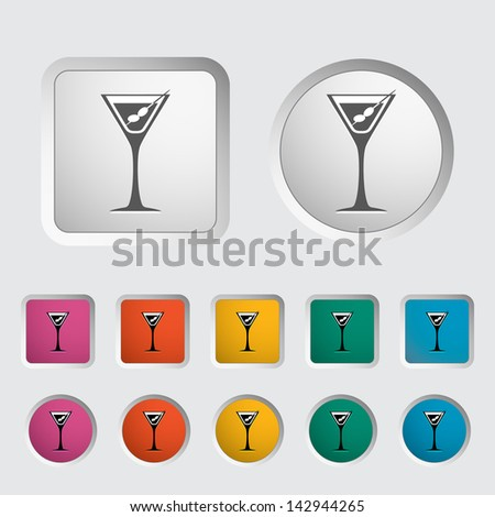 Martini single icon. Vector version also available in my portfolio. - stock photo