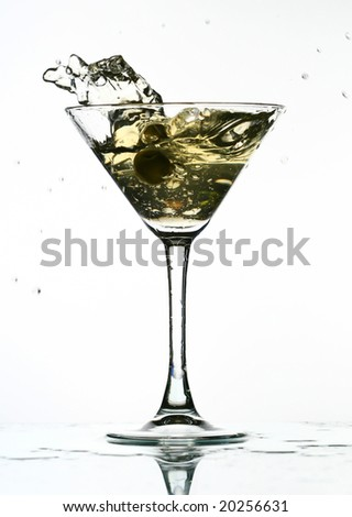 martini splash - stock photo