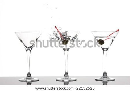 Martini splash - stock photo