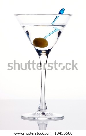 Martini with an olive - stock photo
