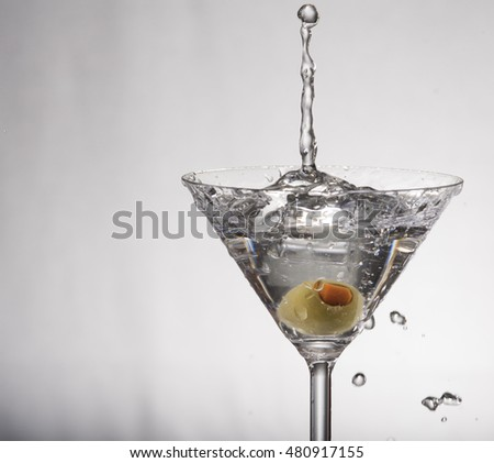 Martini With Olive Drop 5