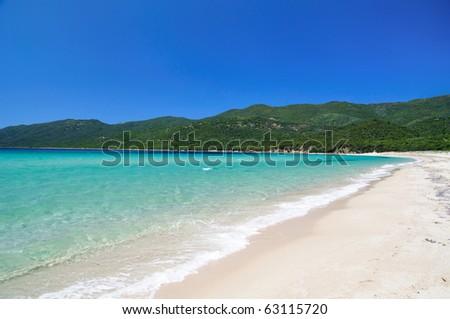 Marvelous beach of Cupabia, Corsica - stock photo