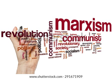 Marxism word cloud concept - stock photo