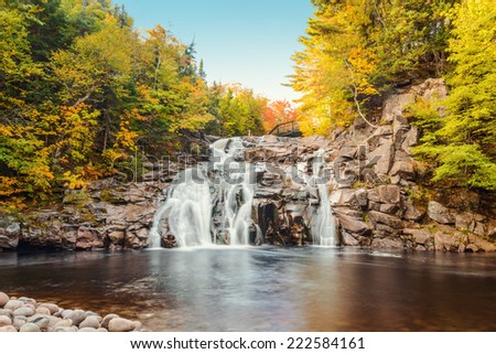 Mary Ann Falls (Highlands National Park, Cape Breton, Nova Scotia, Canada) - stock photo