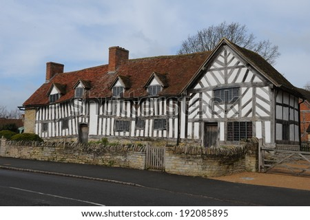 Mary Arden's Farm, the mother of William Shakespeare house in Wilmcote, Stratford upon Avon. - stock photo