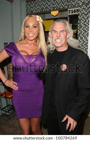 Mary Carey and Camden Toy  at the Boobs and Blood International Film Festival Opening Night, New Beverly Cinema, Los Angeles, CA. 09-24-10 - stock photo
