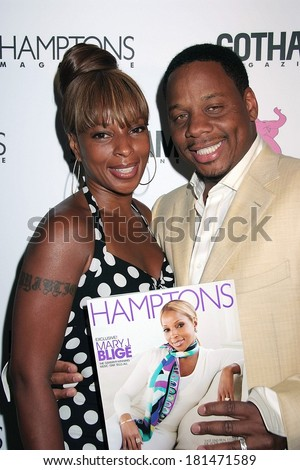 Mary J Blige, Kendu Isaacs at CANDIDS - Saturday Night at the Pink Elephant, Pink Elephant night club, Southampton, NY, June 09, 2007