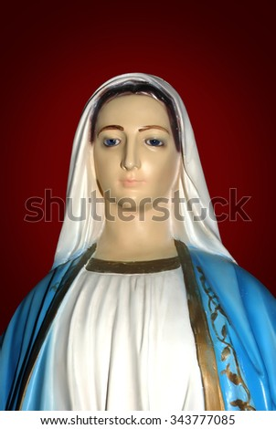 Mary the Mother of Jesus was chosen by God to give birth to the Savior of the World - stock photo