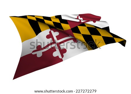 Maryland flag - USA state flags collection no_4  - stock photo