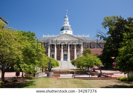 Maryland State Capitol Building - stock photo