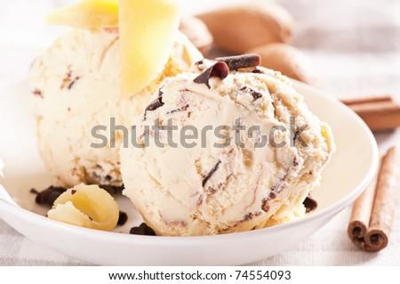 Marzipan ice cream - stock photo