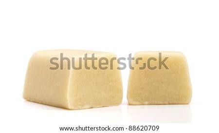 Marzipan on a white background - stock photo