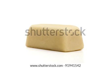 Marzipan on white - stock photo