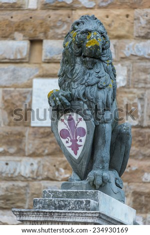 Marzocco, florence lion - stock photo