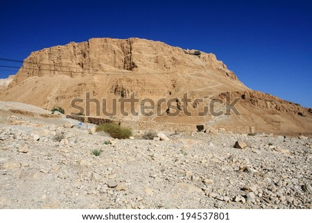 masada ancient Jewish city Negev desert archeology - stock photo