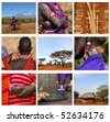 Masai tribe - stock photo