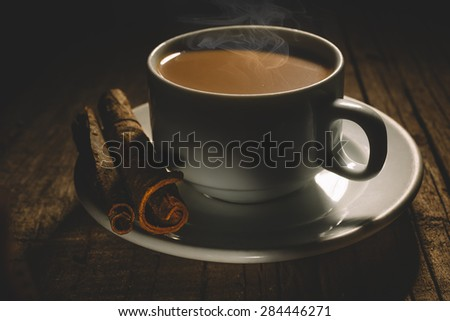 Masala tea with spices. - stock photo