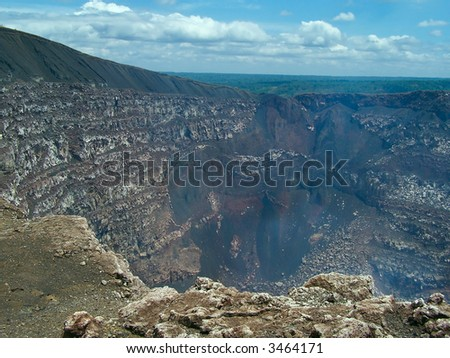 Masaya - the most active volcano in Nicaragua. - stock photo