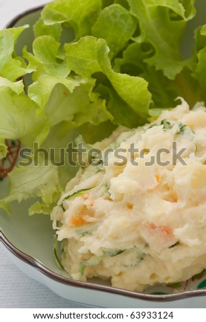 Mashed potato and vegetable.