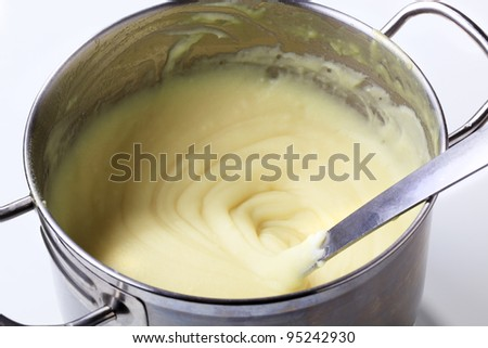 Mashed potato in pot