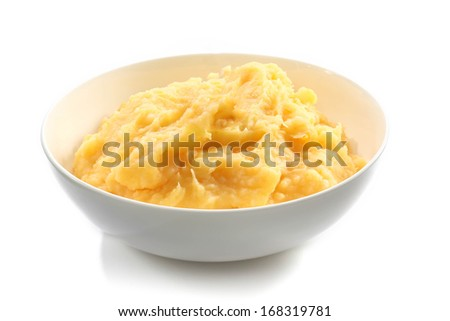 mashed potatoes - stock photo