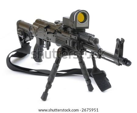 mashine gun ak - 47 - kalashnikov - stock photo