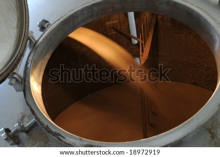 Mashing  in a brewery - stock photo