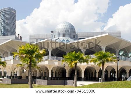 Masjid Asy-Syakirin Muslim Mosque in Kuala Lumpur City Center Park Malaysia - stock photo