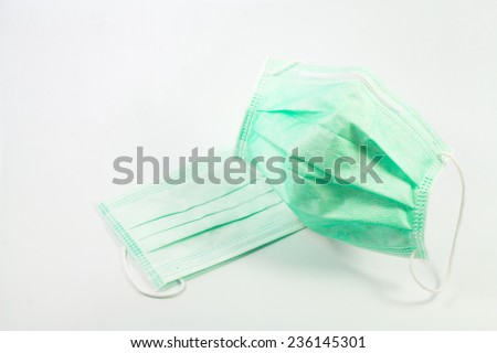 Mask disease prevention on white background. - stock photo