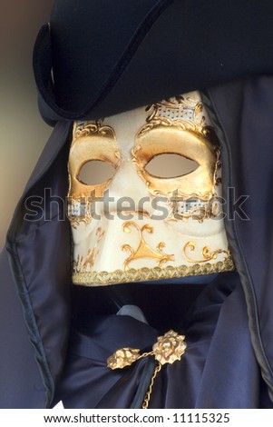 mask from venice - gold and black
