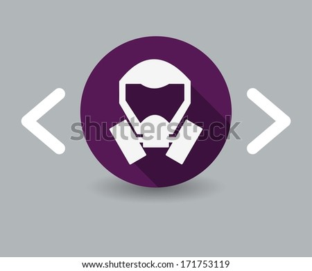 mask icon - stock photo