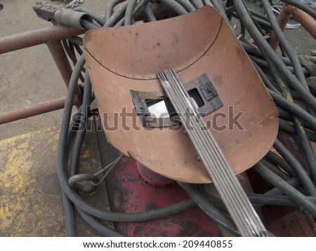 Mask of electric welding