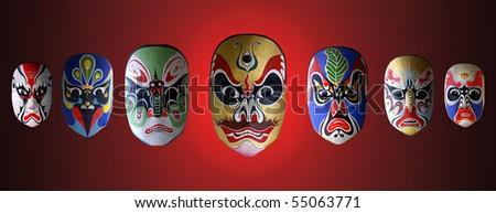 mask of opera - stock photo