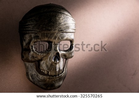 Mask skull on the background, Halloween background - stock photo