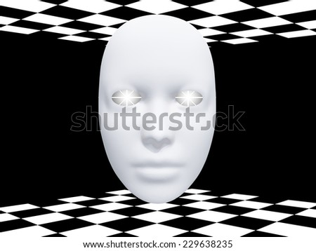 Mask with glowing eyes - stock photo