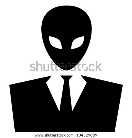 Masked alien or extraterrestrial. - stock photo