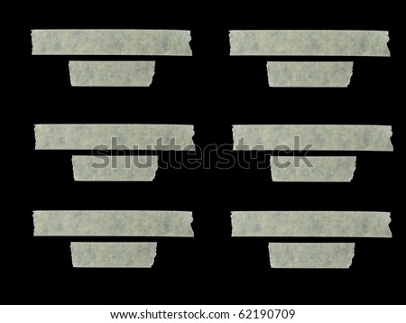 masking tape as labels - stock photo